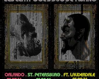 Les Claypool's Duo de Twang Poster - Florida 2014 / Primus