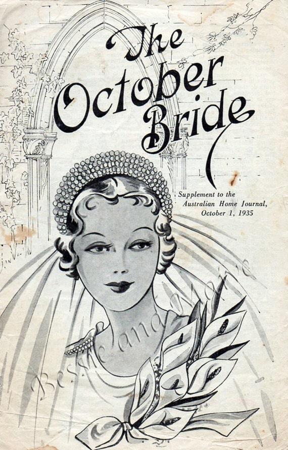 1930s bridal wedding brochure art deco vintage by. Black Bedroom Furniture Sets. Home Design Ideas