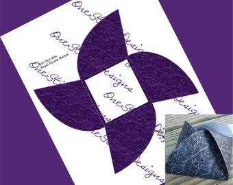 Royal Purple Printable Wedding Party Favor Box Plum Purple Marble Faux Granite Gift Box Bon Bon Style