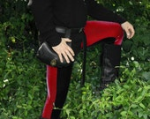Men's Bi-Color Velvet Leggings - pick your color/ pick your size