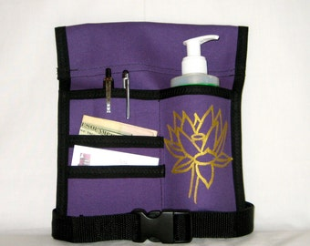 Made to Order - 4 Pocket Massage Oil Holster, RIGHT Hip, Any Color, Any Hand Painted Design