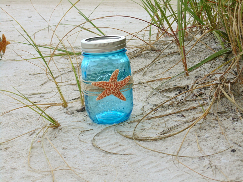 Unique starfish mason jar related items Etsy