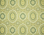 Retro Wallpaper by the Yard 70s Vintage Wallpaper - 1970s Green White and Yellow Geometric