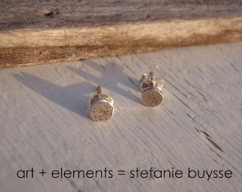 """ARTisan Made """"Moonlit"""" Post Earrings - Sterling Silver - OOAK"""