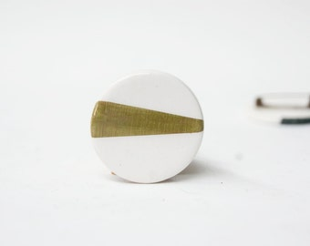 Minimalist ceramic brooch for men, Anniversary gift for men, Ceramic jewelry, Ceramics and pottery, Ceramic jewellery, Minimalist brooch