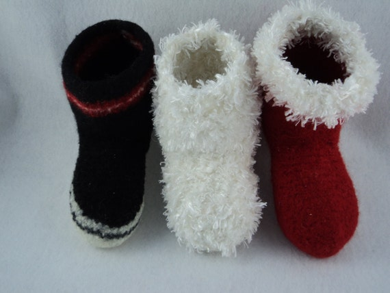 PDF Kids Boot Slipper Felted Wool Knitting Pattern by ...