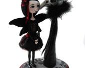 Custom Art Doll - OOAK Art Doll - Skull Raven Doll - Vampire Art Doll - Dark Fairy