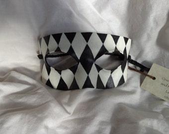Leather Commedia Harlequin Domino Mask