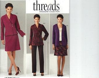 Plus Size Suit Pattern, Simplicity 2288, Size BB 20W - 28W, Pants Skirt Jacket Knit Cardigan, Threads Magazine Collection, Uncut