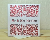 Wedding engagement Personalised Laser Cut Card