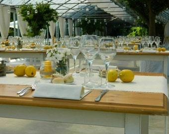 Set of 8 Burlap Wedding Table Runners, Country Wedding Decor, Rustic Elegant Wedding Reception Table Decor, Wedding Decorations Runners