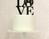 Custom LOVE Silhouette Wedding Cake Topper with YOUR OWN Silhouettes made from your photos by Simply Silhouettes