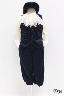 Victorian Navy Blue Velvet Boy Suit Photographers