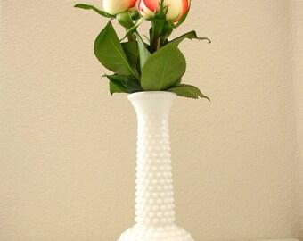 Milk Glass Hobail Vase E Brody Co Hobnail Bud Vase White vase from The Back Part of the Basement