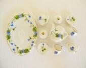REDUCED Miniature Porcelain Tea Set Vintage style