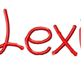 "Lexi Machine Embroidery Font - Sizes 1"",2"",3"",4"" BUY 2 get 1 FREE"