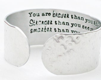 Wide Silver Cuff Bracelet - Secret Message Bracelet - Texturized Cuff Bracelet - Hidden Message Bracelet - Patterned Silver Bracelet