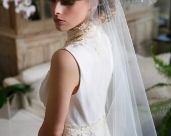 Silver Crystal Juliet Cap Veil, Art Deco Veil,  Tulle Caplet Veil, Wedding Cap Veil, Juliet Veil,  Gatsby Bridal Veil, STYLE 113