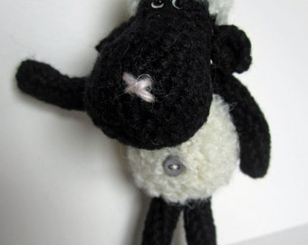 Bo Peep - a hand crocheted woolly sheep