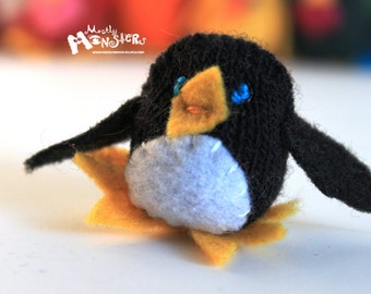 THUMBKIN Penguin from repurposed gloves