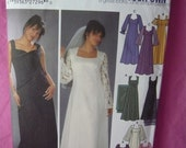Simplicity Pattern 5275 Wedding or Formal Long Dress Size 18W -24W