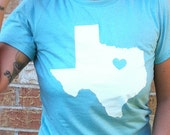 Mint Green Heart of Texas Ladies Tee