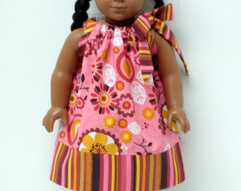 18 inch Doll Clothes Thanksgiving Fall Pillowcase dress 15 inch Doll Dress