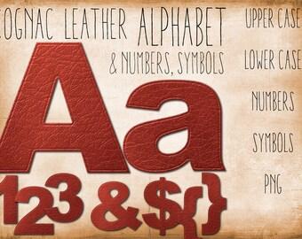 Digital Alphabet: Leather Letters, INSTANT DOWNLOAD, Commercial Use ok, Leather Alpha for digital scrapbooking, vipapril2014
