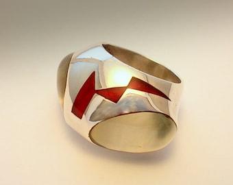 ALIEN  2  RING. Silver Art.