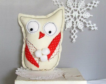 Easy DIY Folk Art Winter Owl, Christmas Gifts, Sewing Pattern PDF, Tutorial, Make It Yourself