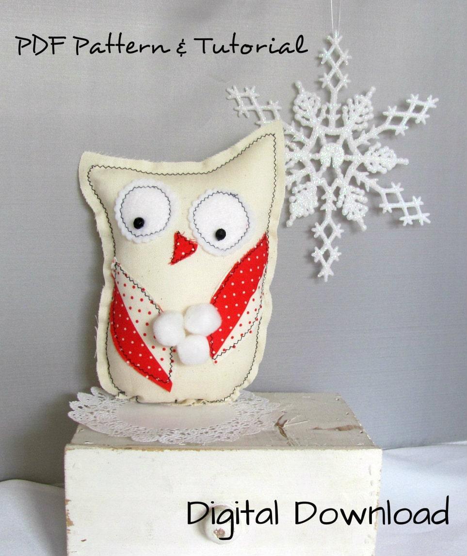 Items Similar To Easy DIY Folk Art Winter Owl, Christmas