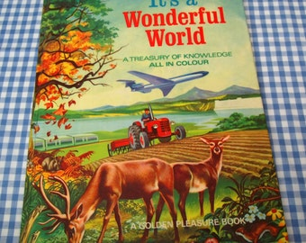 SALE it's a wonderful world - a treasury of knowledge all in colour, vintage 1965 children's book