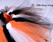 Halloween Tutu:  ORANGE, BLACK, & WHITE Girls Tutu