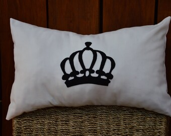 "18""X12"" Princess / Queen Crown Pillow Cover"