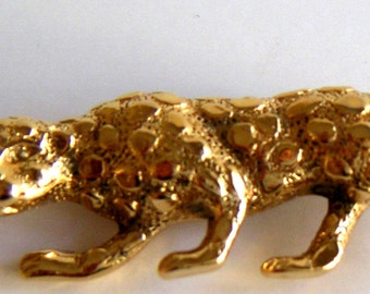 Vintage Brooch,Leopard,Goldtone by GERRY'S. Birthday Gift,Valentine Gifts,Costume Jewelry. FREE Shipping