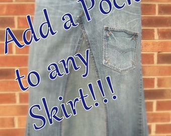 Add a Pocket to Any Skirt!