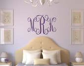 Monogram  Wall Decal - Name Wall Decal - Childrens Wall Decal  - Nursery Wall Decal - Wedding Monogram Decal