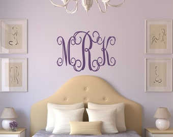 Custom Wall Decals Monogram Decals Car Decals By LucyLews On Etsy - Monogram wall decals for nursery