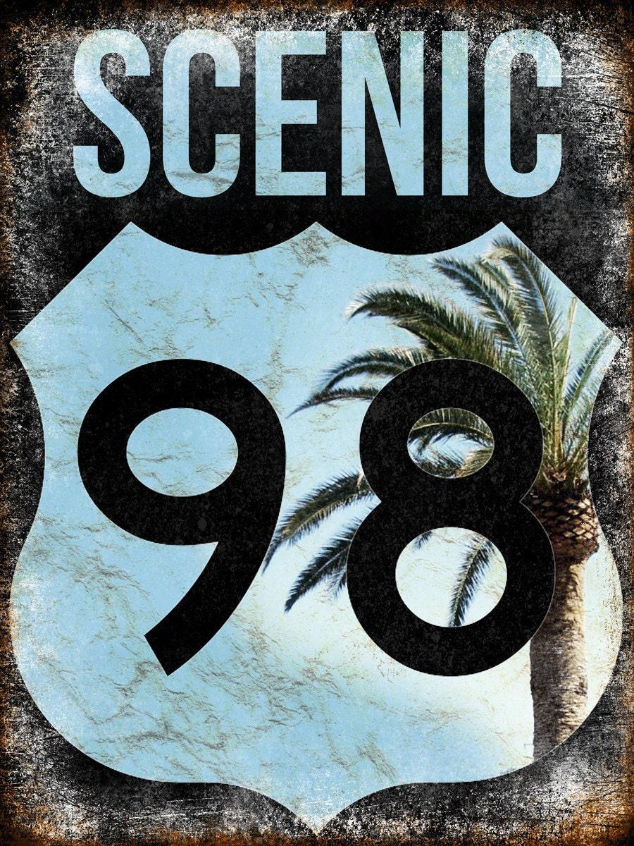 Scenic 98 Metal Sign 12 X 16