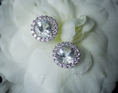 Herkimer Diamond Earrings Halo Stud