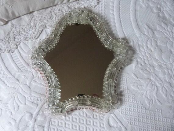 Miroir v nitien antique murano verre miroir meuble miroir for Miroir venitien murano