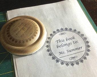 Round Bookplate Stamp
