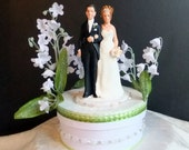 Lily of the Valley month of May Wedding Cake Topper - SAMPLE