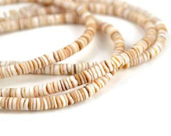 5mm Conus Shell Heishi Beads - 16 Inch Strand