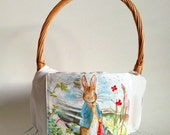 Pick Your Scene - LARGE Peter Rabbit Easter Basket LINER for a Boy or Girl Featuring Beatrix Potter Fabric - Easter Egg Hunt