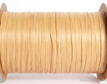 Gold Raffia Ribbon - 30 yards - 1/4 inch wide