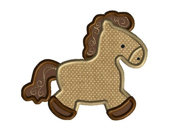 Horse Applique Machine Embroidery Design-INSTAND DOWNLOAD