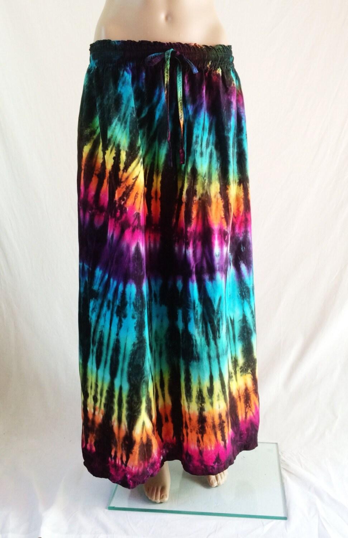 tie dye skirtmaxi skirt hippie skirt bohemian by 2dye4designs