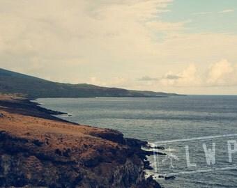 Hana Maui Hawaiian Seascape Photography Wall Art  - available in 5 sizes