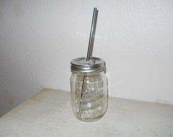 16 oz Mason Jar Tumbler, mason jar mugs, redneck tumblers, rustic tumblers, rustic mugs, redneck mug, eco friendly tumbler